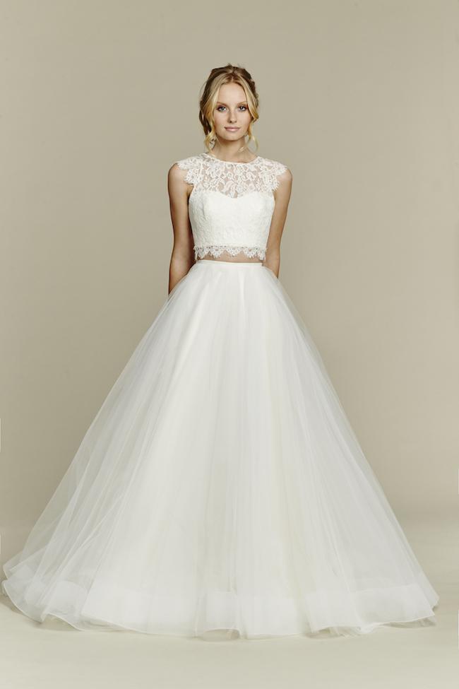 2 piece bridal gowns