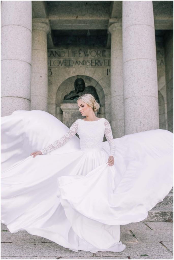 2 piece bridal separates gown