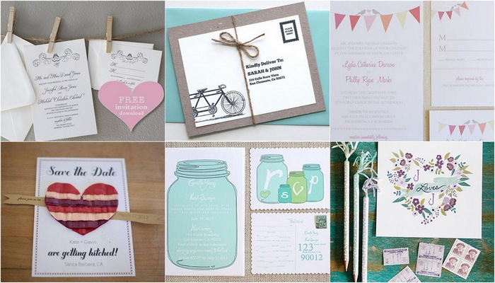 15 DIY Vintage Wedding Invitations & Vintage Save The Dates