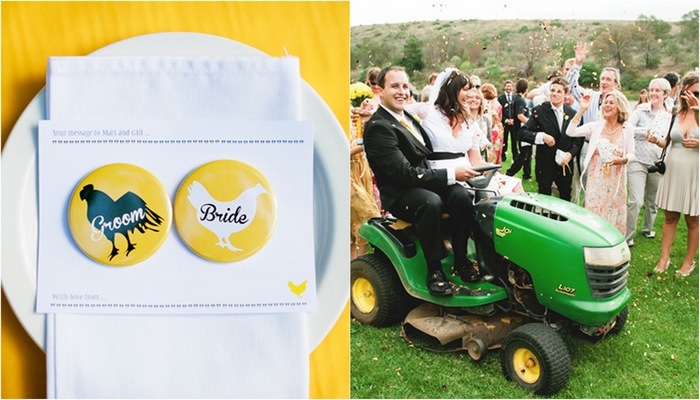 {Real Bride Feature} A Country Chic Yellow & Green Wedding Theme