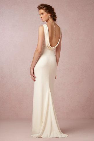 backless wedding dress .