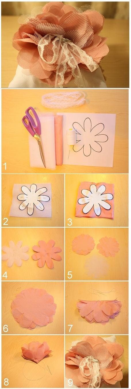 Bridal DIY Fabric Flower Tutorial