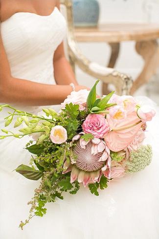 Protea Cascade Bouquet South Africa // Adene photography // Anli Wahl Florist // ConfettiDaydreams.com //