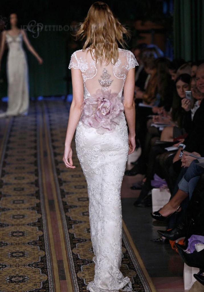 Lace Back Wedding Dress Claire Petibone Mystere