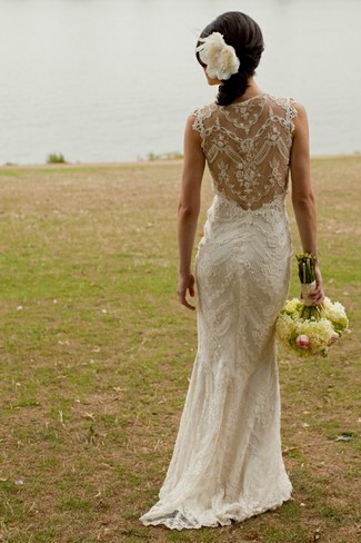 Lace Back Wedding Dress Lace Back Wedding Dresses