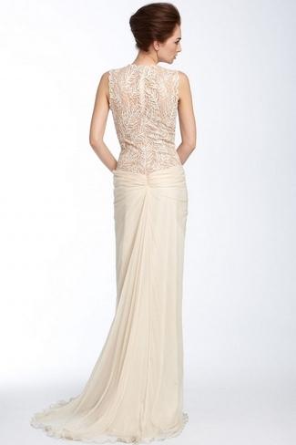 Lace Back Wedding Dresses