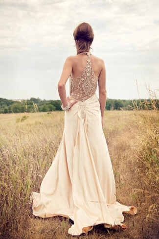 Lace Back Wedding Dress ...
