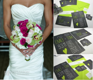 Lime Green Fuschia Pink Wedding Theme