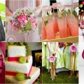 Lime Green and Fuchsia Pink Wedding Theme1
