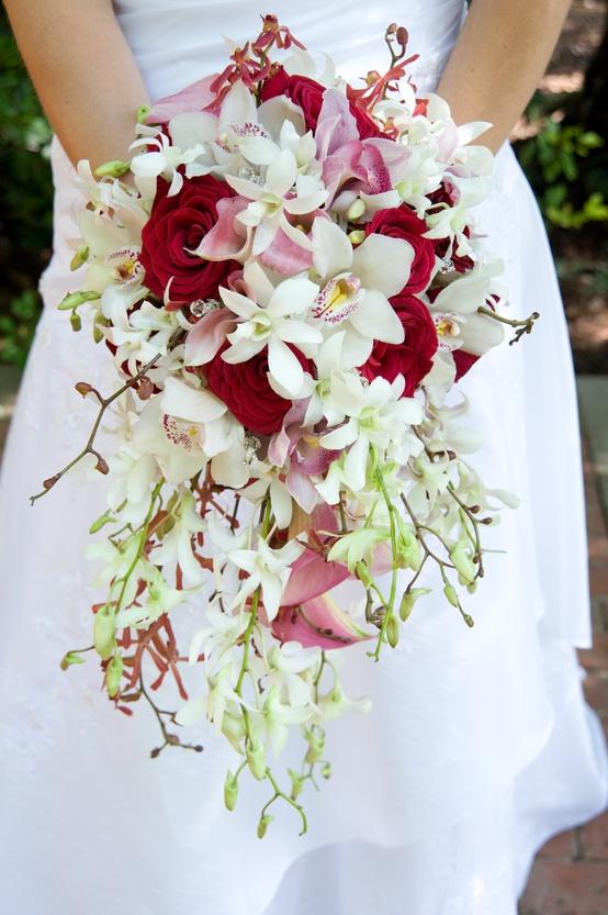 Cascade Orchid Bridal Bouquet : Blue orchid cascading bouquet images pictures becuo