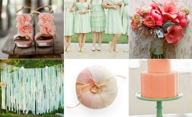 Mint Green and Peach Wedding Theme 35