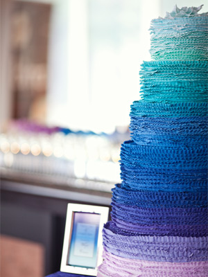 Ombre Wedding Cake Blue
