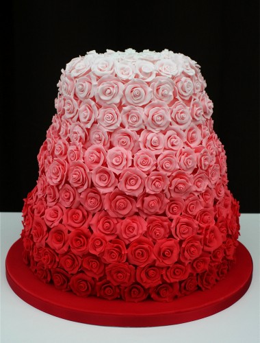 Ombre Wedding Cake Red