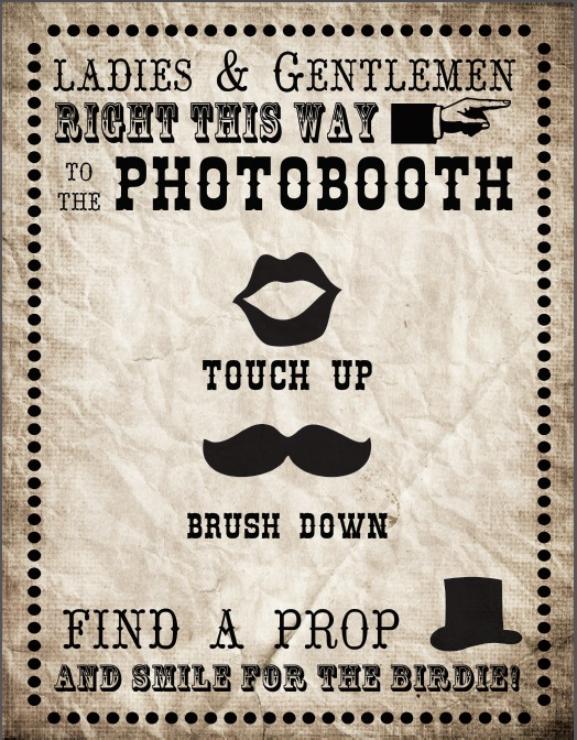Photobooth Sign Printable