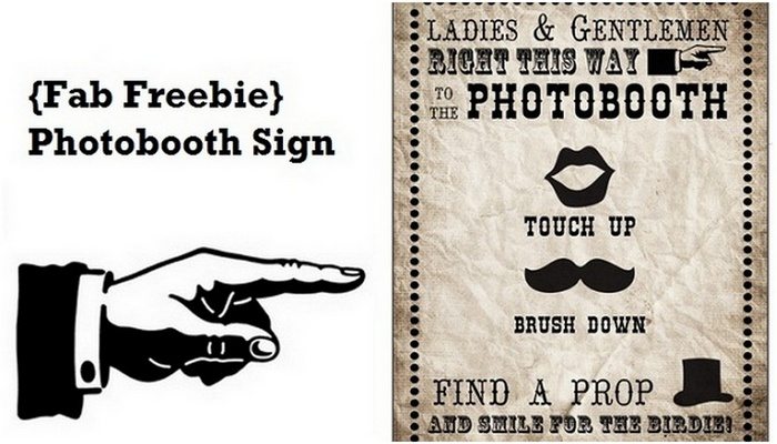 free photobooth sign printable vintage carnival style
