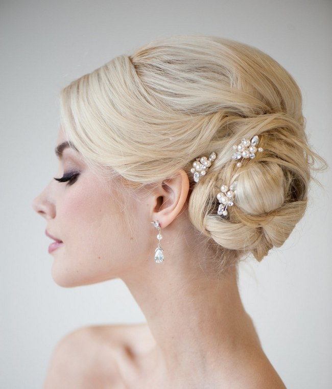 Wedding Updo Bridal Hairstyle :: Powder Blue Bijoux ::