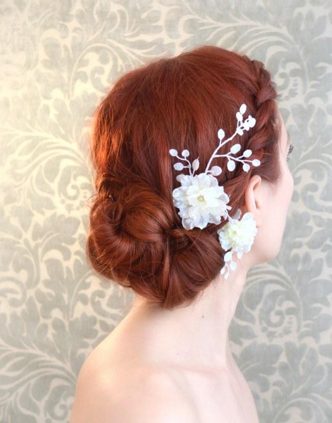 Brilliant Bridal Hair 25 Wedding Upstyles And Updos Short Hairstyles Gunalazisus