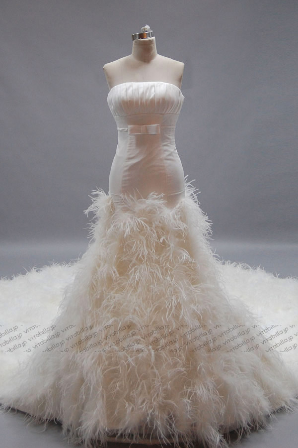 Pink Wedding Dress Feathers : Feather wedding dress related keywords suggestions