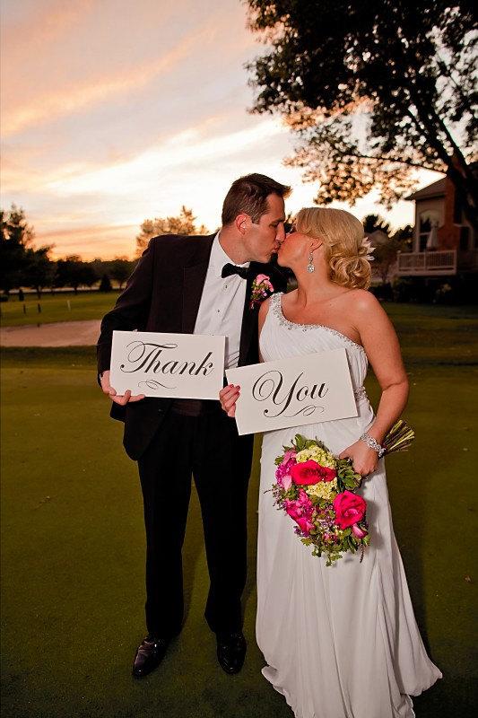 Wedding photo Idea Thank you