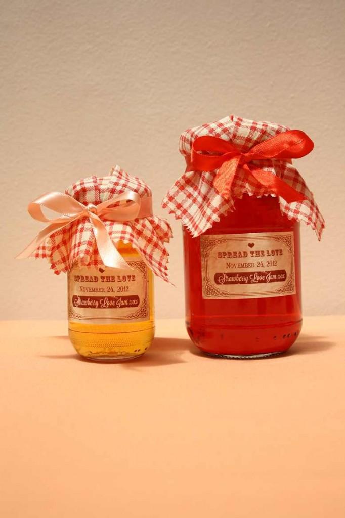 Spread the love jam jar printable favour labels