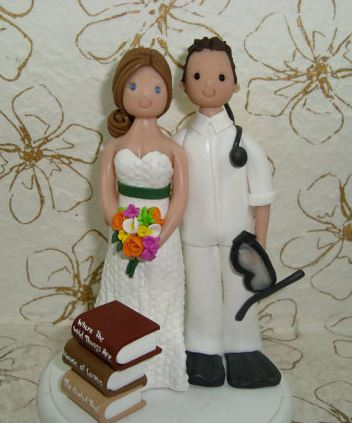 book lover cake topper