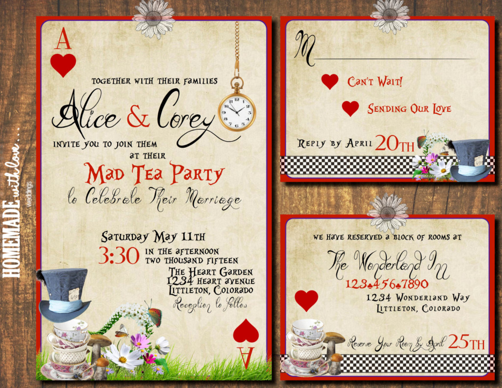 Kitchen Tea Party Invitation 20 Diy Alice In Wonderland Tea Party Wedding Ideas