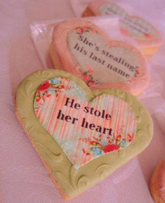 DIY Engagement Party Favors Biscuit Printable Labels