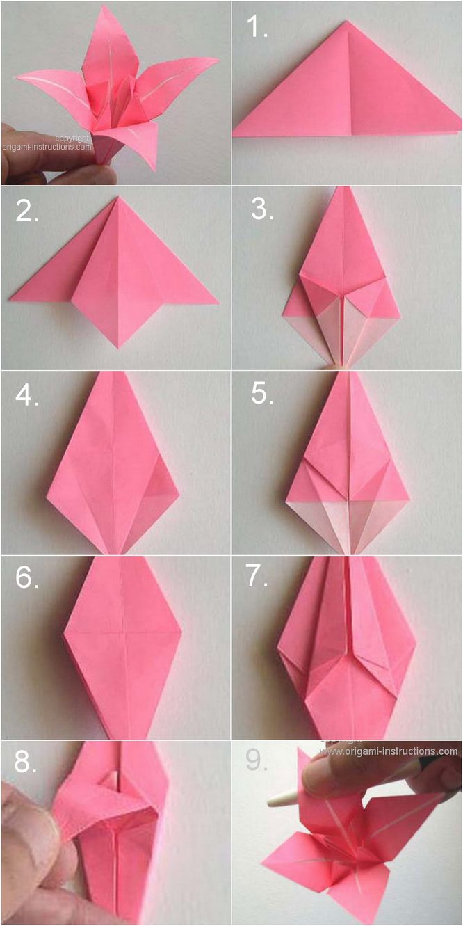 Diy paper origami lily vintage wedding corsages boutonni res for Diy paper origami