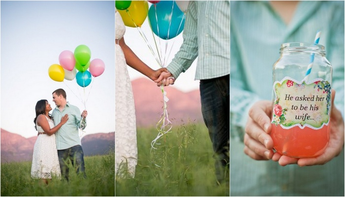 {Engagement Shoot} A Whimsical Balloon-Themed Photo Shoot