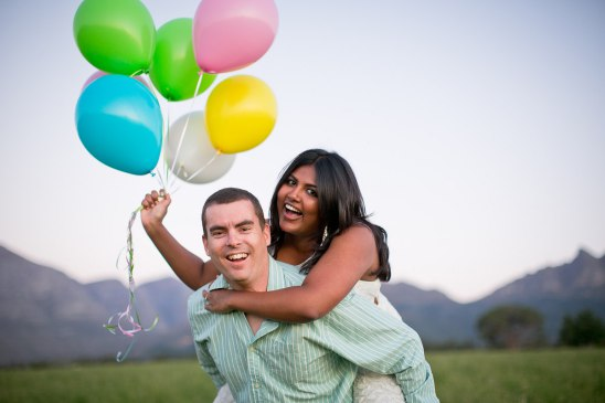 Whimsical Balloon-Themed Engagement Photo Shoot