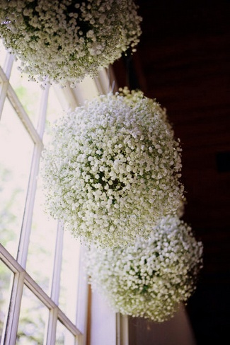 DIY Babys Breath Burlap & Lace Ideas