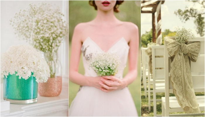 17 DIY Baby's Breath, Burlap & Lace Wedding Ideas
