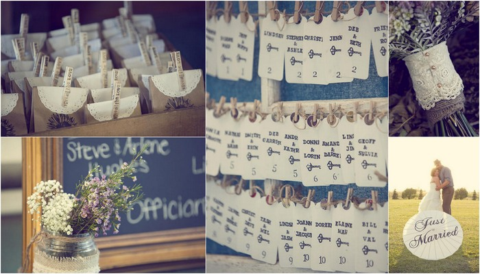 Country Chic Burlap & Lace DIY Wedding