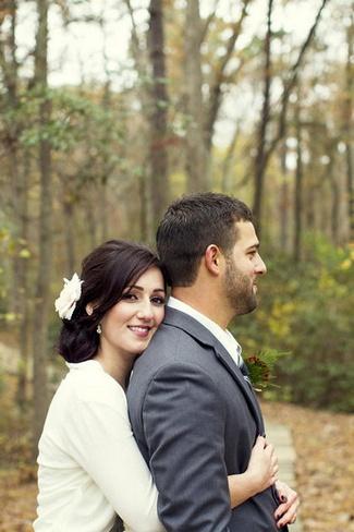 Rustic Green Orange and Ivory Autumn Wedding