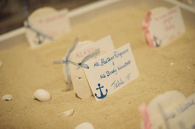 Nautical Wedding in Navy Blue and Pink