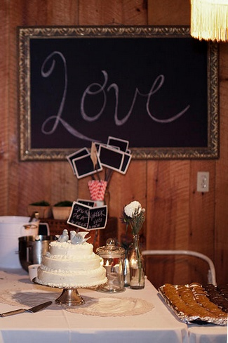 Red and Blue Rustic DIY Wedding