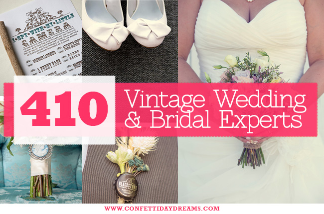 Vintage Bridal Suppliers