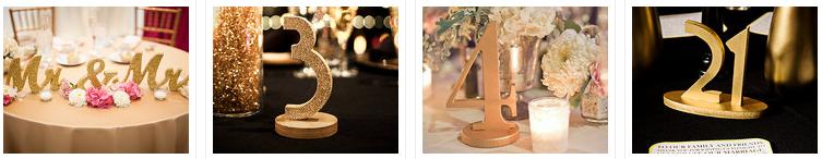 glitter wedding DIY
