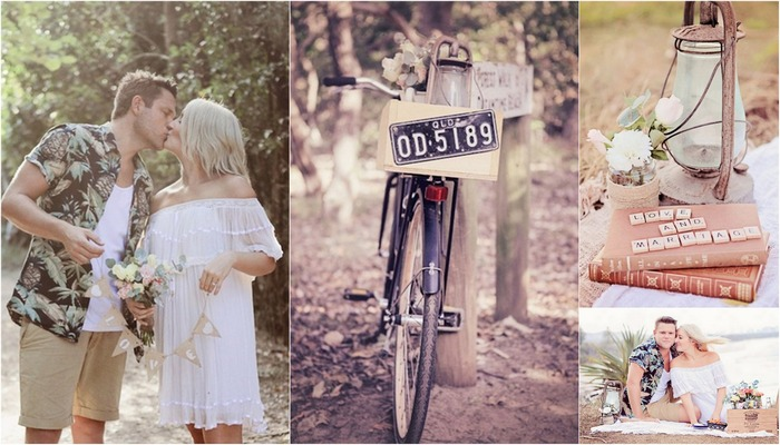 {Engagement Shoot} Rustic Broadbeach Picnic