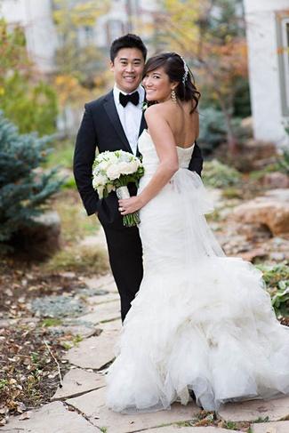 Glamorous Gold Green and White Wedding