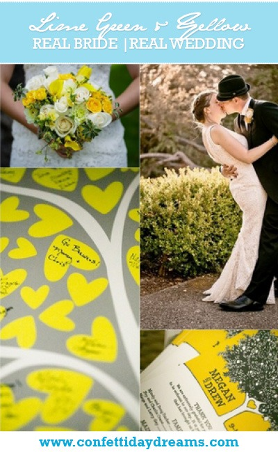 Lime Green and Yellow Real Bride