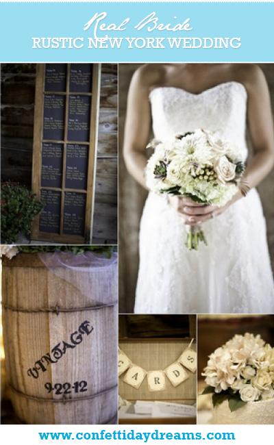 Rustic New York Real Wedding