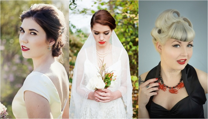 Vintage Bridal Hair & Make Up Tips {1920s to 1950s}