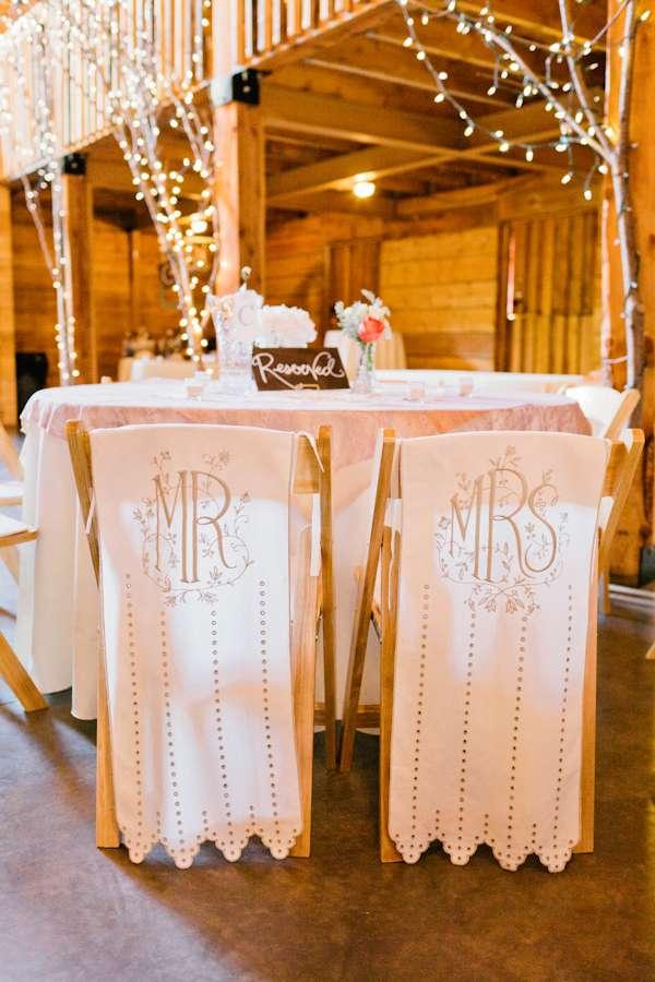 Wedding Chair Swag Decorations