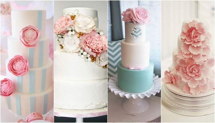 17 Pretty Peony Wedding Cakes