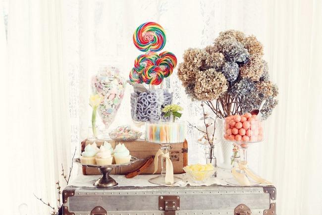 1950s Retro Engagement Shoot Candy Shop