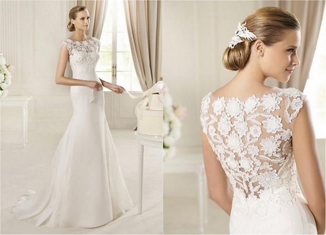 Lace Back and Keyhole Wedding Dresses 2013