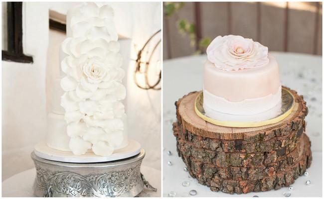 Pretty Peony Wedding Cakes
