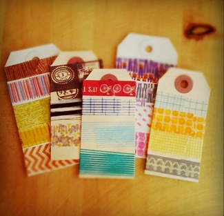 DIY Washi Tape Wedding Favor Tags