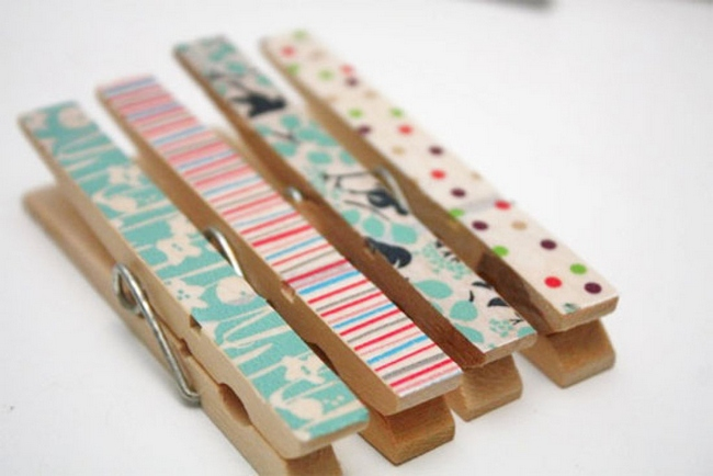 DIY Washi Tape Clothes Pegs